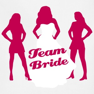 Team Bride, Bachelorette Party, wedding 2 Aprons - Adjustable Apron
