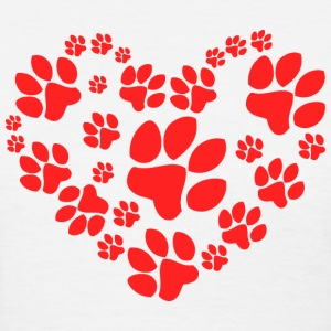 Paws Heart - Women's T-Shirt