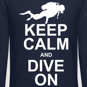 Keep Calm and Dive On (KCDO) Long Sleeve Shirts - Crewneck Sweatshirt