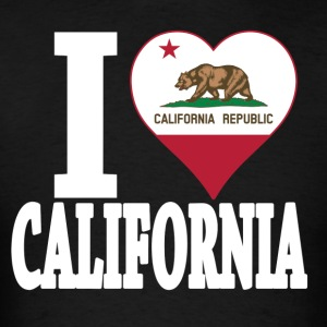 I love California flag USA t-shirt - Men's T-Shirt