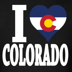 I love Colorado flag  USA t-shirt - Men's T-Shirt