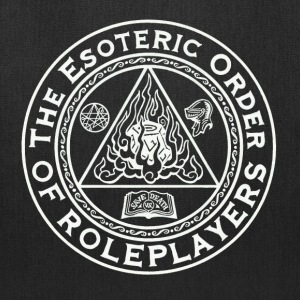 Esoteric Order of Roleplayers Logo Tote Bag (White - Tote Bag