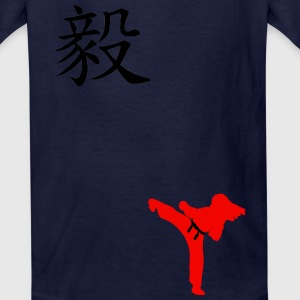 Meaning of Black Belt: Perseverance girls T shirt in navy blue - Kids' T-Shirt