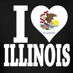 I love Illinois flag USA t-shirt - Men's T-Shirt