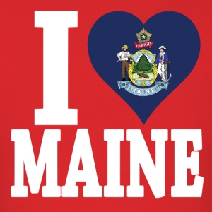 I love Maine flag USA t-shirt - Men's T-Shirt