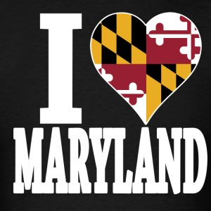 I love Maryland flag USA t-shirt - Men's T-Shirt