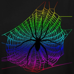 Spider Rainbow Web T-Shirts - Men's Tall T-Shirt