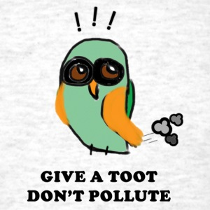 Give a Toot, Don't Pollute Owl T-Shirts - Men's T-Shirt