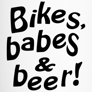 bikes babes beer Mugs & Drinkware - Travel Mug
