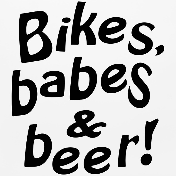 bikes babes beer Other - Mouse pad Horizontal