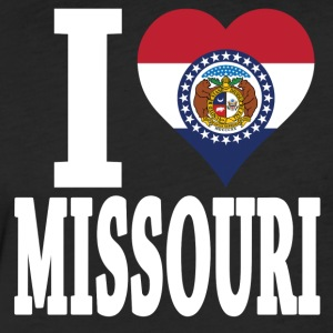 I love Missouri flag USA t-shirt - Fitted Cotton/Poly T-Shirt by Next Level
