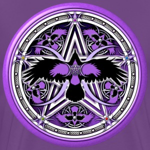 Purple Crow Pentacle - Design #3 - Men's Premium T-Shirt