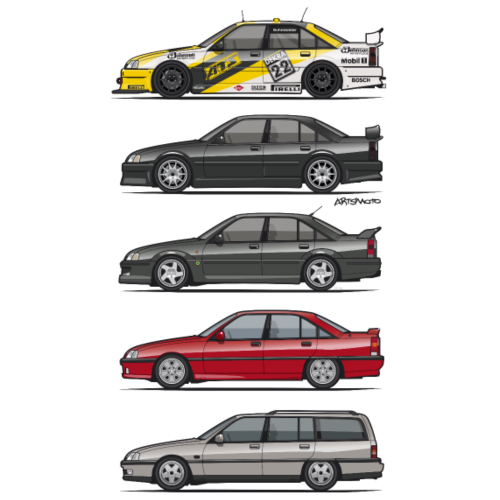 Stack of Opel Omegas / Vauxhall Carlton A