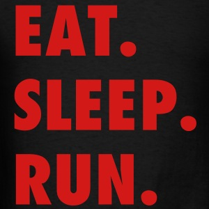 Eat Sleep Run Motivation Vector (Pick Color) T-Shirts - Men's T-Shirt