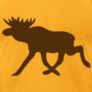 Chocolate Moose Silhouette T-Shirts - Men's T-Shirt by American Apparel