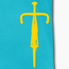 Men's Front View Bicycle T-shirt