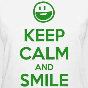 Keep Calm and Smile T-Shirts - Women's T-Shirt