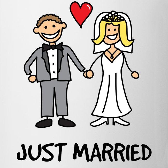 Geek Emporium | Just Married Cartoon - CoffeeTea Mug