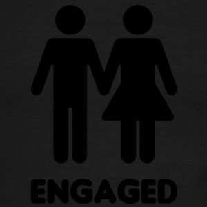 Engaged Couple Sign T-Shirts - Men's Ringer T-Shirt