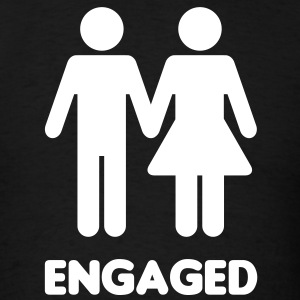 Engaged Couple Sign T-Shirts - Men's T-Shirt