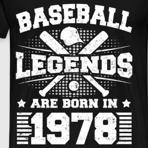 BASEBALL LEGENDS 1978 2 c.png T-Shirts - Men's Premium T-Shirt