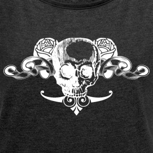 Skull 03 T-Shirts - Women's Roll Cuff T-Shirt