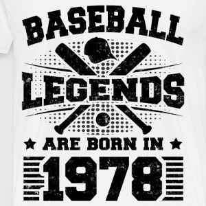 BASEBALL LEGENDS 1978 2 b.png T-Shirts - Men's Premium T-Shirt