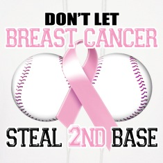 Don't Let Breast Cancer Steal 2nd Base Hoodies
