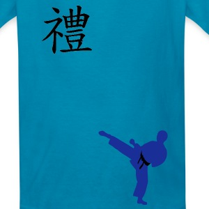 Meaning of Martial Arts: Courtesy Boys T shirt in orange - Kids' T-Shirt