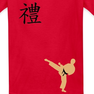 Meaning of Martial Arts: Courtesy Boys T shirt in red - Kids' T-Shirt