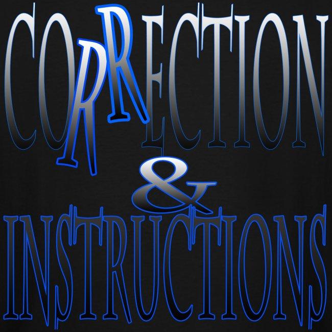 Correction & Instructions