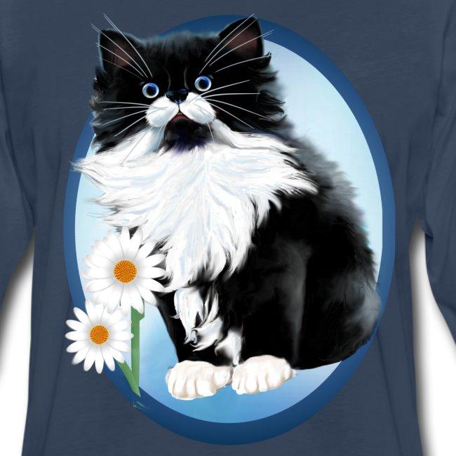 Kitten and Daisy Oval