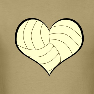Men's Volleyball Heart T-Shirt - Men's T-Shirt