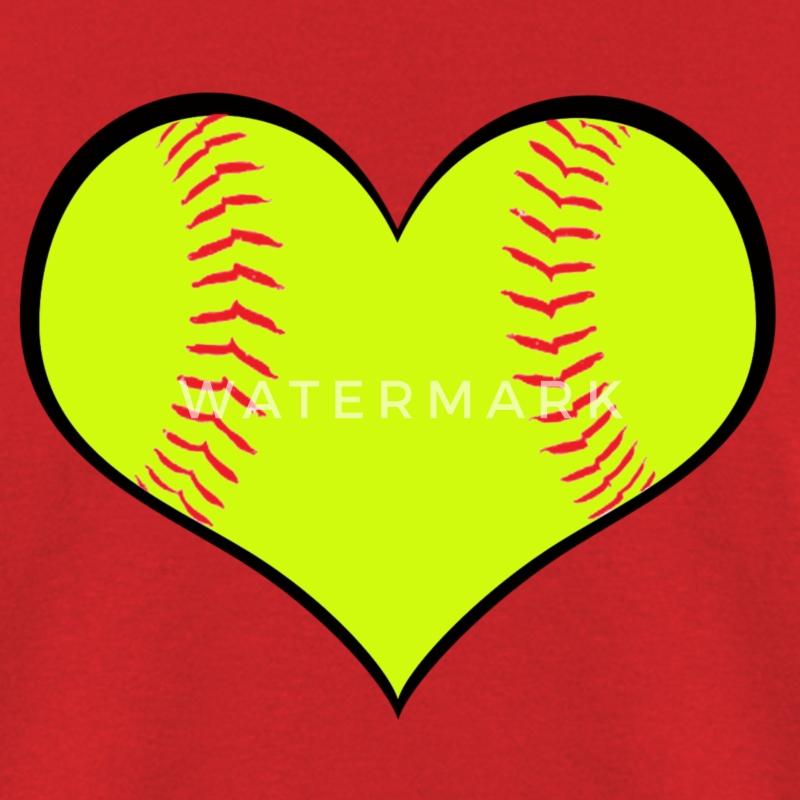 Softball Heart T-Shirt