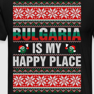 Bulgaria Is My Happy Place T-Shirts - Men's Premium T-Shirt