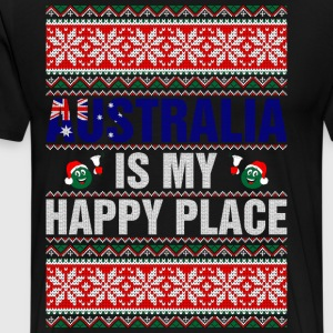 Australia Is My Happy Pla T-Shirts - Men's Premium T-Shirt