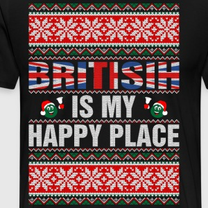 British Is My Happy Place T-Shirts - Men's Premium T-Shirt