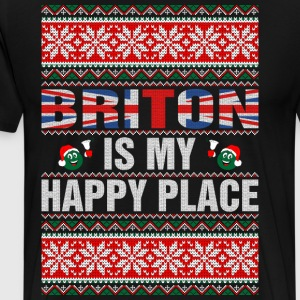 Briton Is My Happy Place T-Shirts - Men's Premium T-Shirt
