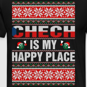 Chech Is My Happy Place T-Shirts - Men's Premium T-Shirt