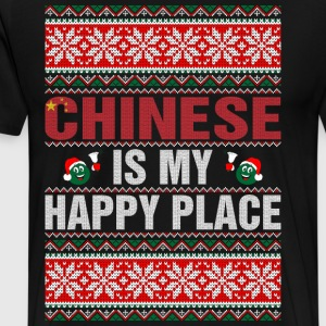 Chinese Is My Happy Place T-Shirts - Men's Premium T-Shirt