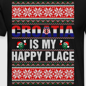 Croatia Is My Happy Place T-Shirts - Men's Premium T-Shirt