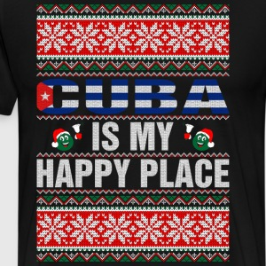 Cuba Is My Happy Place T-Shirts - Men's Premium T-Shirt