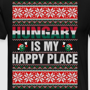Hungary Is My Happy Place T-Shirts - Men's Premium T-Shirt