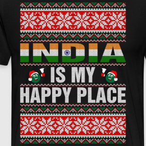 India Is My Happy Place T-Shirts - Men's Premium T-Shirt