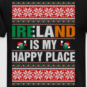 Ireland Is My Happy Place T-Shirts - Men's Premium T-Shirt