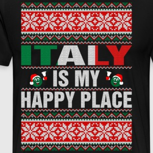 Italy Is My Happy Place T-Shirts - Men's Premium T-Shirt