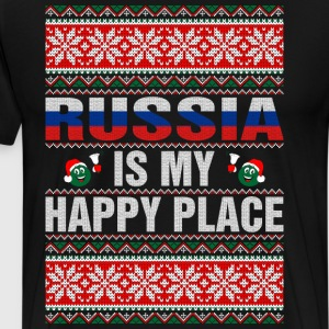 Russia Is My Happy Place T-Shirts - Men's Premium T-Shirt