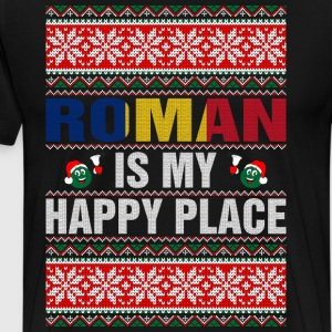Roman Is My Happy Place T-Shirts - Men's Premium T-Shirt