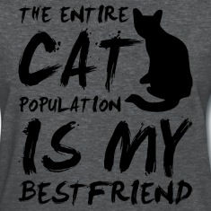 cat population is my bestfriend - black Women's T-Shirts