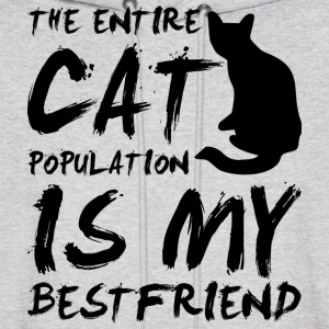 cat population is my bestfriend - black Hoodies - Men's Hoodie